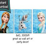 Frozen printables set of 3 8x10 printables  DIY  by CupcakeTops
