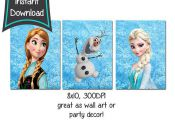 Frozen printables set of 3 8x10 printables  DIY  by CupcakeTops, $5.00