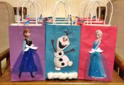 Frozen theme goodies bags