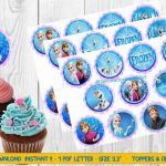 Frozen - toppers & decoratives, frozen party, frozen printables