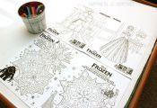 Fun FROZEN Printable Coloring Sheets Activity #FrozenFun #cbias #shop