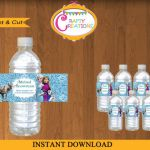 Glitter Frozen Water Bottle Wraps - Disney Frozen Printable label - Melted Snowm...