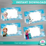 INSTANT DOWNLOAD Frozen Food Tent Label, Frozen Party Package,  Frozen Printable...