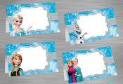 INSTANT DOWNLOAD Frozen Food Tent Label, Frozen Party Package,  Frozen Printable...