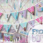 "INSTANT DOWNLOAD Frozen PRINTABLE party banner ""Happy Birthday""  by SplendidINK,..."