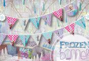 "INSTANT DOWNLOAD Frozen PRINTABLE party banner ""Happy Birthday""  by SplendidINK,..."