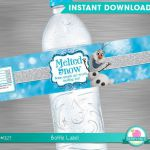 INSTANT DOWNLOAD Frozen Water Bottle Label, Frozen Melted Snow Label, Frozen Pri...