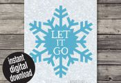 INSTANT DOWNLOAD Let it Go Frozen Printable by emoorestoredesign