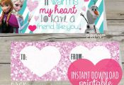 INSTANT DOWNLOAD PRINTABLE Frozen Valentine treat toppers by splendidINK on Etsy