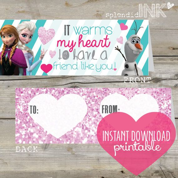 INSTANT-DOWNLOAD-PRINTABLE-Frozen-Valentine-treat-toppers-by-splendidINK-on-Etsy INSTANT DOWNLOAD PRINTABLE Frozen Valentine treat toppers by splendidINK on Etsy Cartoon