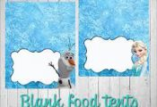 Image result for frozen free printables food labels                             ...