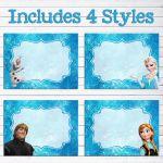 Instant Download Disney Frozen Food Labels // Frozen Birthday Party // Frozen Fo...