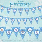 Instant Download Frozen Printable Banner by HaydeeJewelryAndMore on Etsy