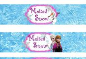 Instant Download!! Frozen Water Bottle Wrappers JPEG 300 dpi Printable Party Els...