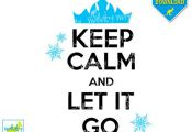 Keep Calm and Let it Go Disney Frozen Iron On Transfer or Use as Frozen Clipart ...