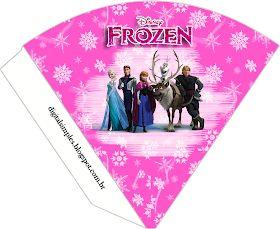 "Kit-de-Aniversário-Frozen-Disney-Pink-para-Imprimir-Convites-Digitais-Simpl Kit de Aniversário ""Frozen-Disney"" Pink para Imprimir - Convites Digitais Simpl... Cartoon"