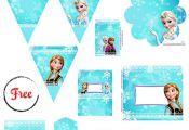 Kit festa Princesas Frozen - Grátis para uso pessoal Frozen Printable Party - F...