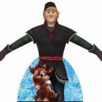 Kristoff from Frozen: Free Printable Dress Shaped Box--use as Kristoff centerpie...