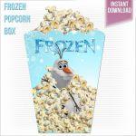 Large Olaf Disney Frozen Printable Popcorn by RoyaltyInvitations, $3.95