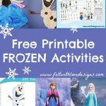 Links With Love: Free Printable Frozen Crafts and Activities (Felt With Love Des...