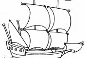 Mayflower Boat Coloring Page – free printable mayflower coloring …  Boat, Co...