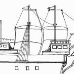 Mayflower Coloring Page  Coloring, Mayflower, page #cartoon #coloring #pages