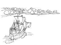 Mayflower-coloring-book-Plimoth-Plantation Mayflower coloring book Plimoth Plantation Cartoon