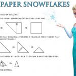 More fun and FREE Disney's Frozen Printables! Make snowflakes to decorate fo...