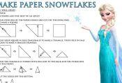 More fun and FREE Disney's Frozen Printables! Make snowflakes to decorate fo...