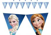 More pennants to decorate your Frozen themed birthday!! #frozen #banner #birthda...
