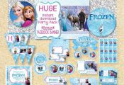 ON SALE**Limited Time** Frozen Printable Party Pack, Instant Download, Disney Fr...