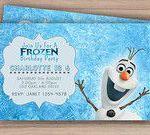 Olaf Frozen Birthday Invitation - Printable - Custom Download - Olaf Invite - Fr...