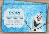 Olaf Frozen Birthday Invitation - Printable - Custom Download - Olaf Invite - Fr...