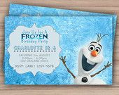 Olaf-Frozen-Birthday-Invitation-Printable-Custom-Download-Olaf-Invite-Fr Olaf Frozen Birthday Invitation - Printable - Custom Download - Olaf Invite - Fr... Cartoon