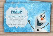 Olaf Frozen Birthday Invitation Printable by CeMariePrints, £5.06