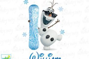 Personalized Olaf Frozen Printable Iron On Transfer or Use as Clip Art - DIY Fro...