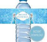 Personalized water bottle - Frozen themed party favors - Fun kids birthday ideas