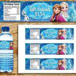 Plus de détails Frozen étiquette de bouteille d'eau, Frozen neige fondue, Fr...