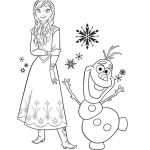Print and color this amazing picture of Princess Anna and her friend Olaf. Enjoy...