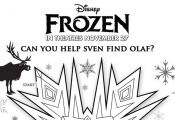 Print out three fun Disney's Frozen mazes for the kids!