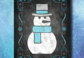 Printable Guestbook Snowman Winter Wedding Sign, Wedding Guestbook, Wedding Sign...
