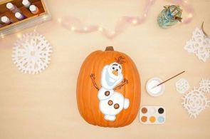 Pumpkin Painting for Halloween: Frozen
