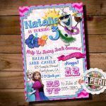 SUMMER FROZEN Printable INVITATION Custom by PinkFrostingPaperie