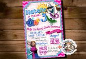 SUMMER FROZEN Printable INVITATION Custom by PinkFrostingPaperie