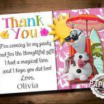 SUMMER FROZEN Printable Olaf INVITATION, Custom Frozen Invitation, Girls Birthda...