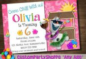 SUMMER Luau FROZEN Printable INVITATION by CustomPartyShoppe, $12.50