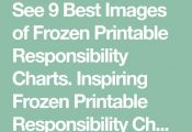 See 9 Best Images of Frozen Printable Responsibility Charts. Inspiring Frozen Pr...