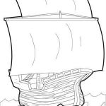 The Mayflower Coloring Page  Coloring, Mayflower, page #cartoon #coloring #pages