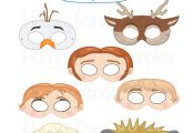 This listing is for (7) ice queen printable masks JPG files that are in a zip & ...