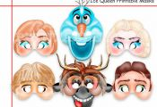 Unique Frozen Printable Masks+Bonus,party masks,birthday,decoration,invitation,A...